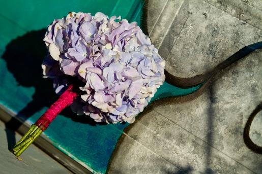 Blue Hydrangea bouquet, Blue and Pink Bouquets, Angie Strange, Posh Floral Designs, Deep Ellum, Deep Ellum Photoshoot, Radiant Squares Photography, Art and Flowers, Dallas Florist
