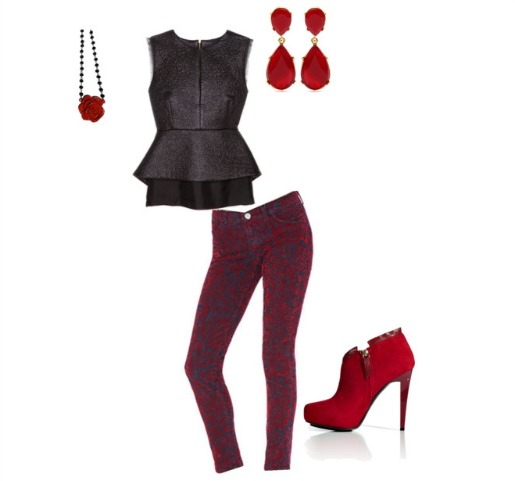 MyTheresa.com, J Brand Jeans, Intermix, Diane Von Frustenburg, Red suede Booties, Leather Peplum,