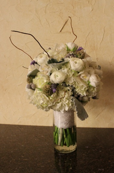 Bridal Bouquet, Rustic Bridal Bouquets, Lace on a bouquet, White and Gray Bouquet, Lavender in Bouquets,