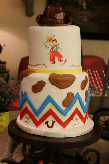 Layered Bake Shop, Cowboy Cake, Western Cake, Chevron Cake, Posh Floral Designs