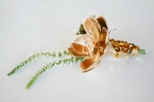 Succulent boutineres, Gold Succulents, Posh Floral Designs, Boutinere ideas