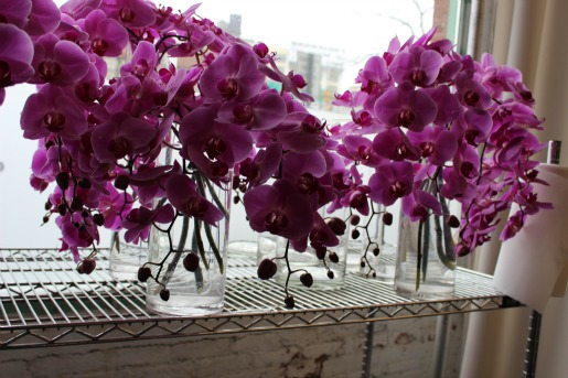 Karen Tran, Chapel Flowers, Karen Tran Events, Posh Floral Desings, Floral Designs, Purple flower centerpieces, Posh Floral Designs, Phalonopsis Orchids
