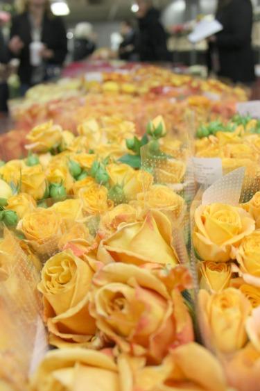 Orange Roses, Yellow Roses, Flower Market, New York Flower Market, Posh Floral Designs, Dallas Wedding Florist