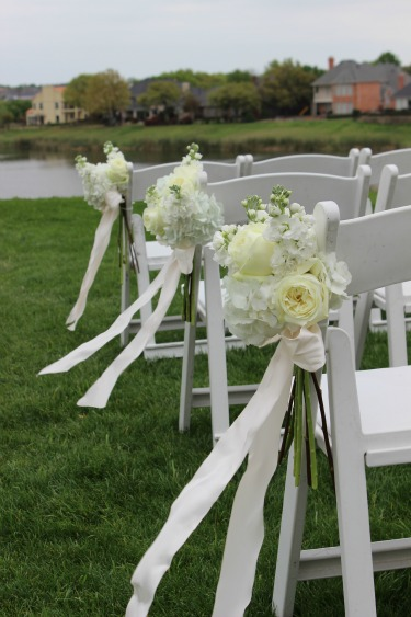All white flowers for weddings, Aisle flowers, Stonebridge Ranch Country Club, Posh Floral Designs