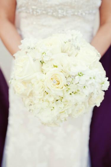 Perez Photography, Posh Floral Designs, Bridal Bouquet, White Hydrangeas, White Roses, Posh Floral Designs
