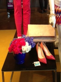 Missoni Bag, Ombre Shoes, Kendra Scott Earrings, Turquoise Earrings