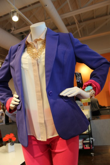 Blue Blazer and Hot Pink Jeans, Last Call Studios, Posh Floral Designs