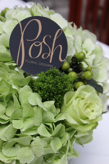 Team Connor, Childhood Cancer Research, Posh Floral Designs, III Forks Dallas, Green Trick, Green Hypericum Berries, Super Green Roses, Green Hydrangeas