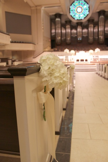 Baby's breath arrangements, Candelabras, White Bouquets, Vintage Wedding, aisle decor