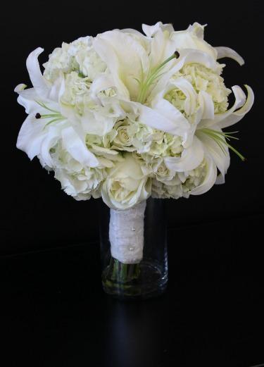 Baby's breath arrangements, Candelabras, White Bouquets, Vintage Wedding