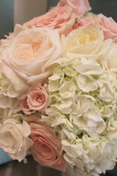 O'hara rose, White hydrangeas, blush roses, blush bouquets, pink roses, blush weddings