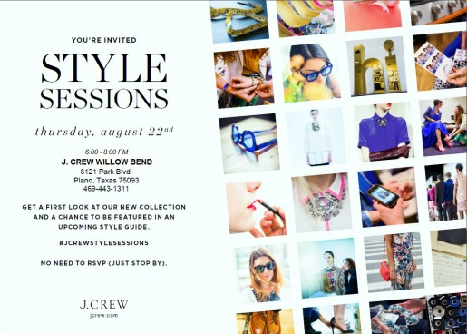 Fashion Events, Style Sessions, Dallas Fashion Events, Jcrew, Sale at the Mall,