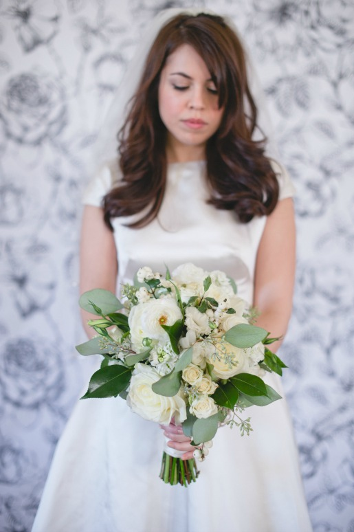 Retro Bouquet, Garden Bouquet, White Bouquet, Bridal Bouquet, Posh Floral Designs, Chestnut Square, Gather Mckinney, Hipster Bride and Groom, Nine Photography