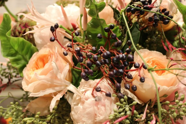 Peonies | Juliet Roses | Privet Berries | Holly Heider Chapple Flowers- Designs