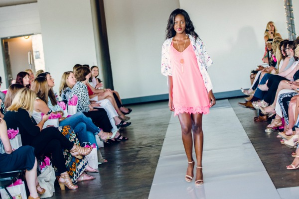 Milk & Honey Boutique | Pink Tunic Dress | Floral Print | Polish Dallas