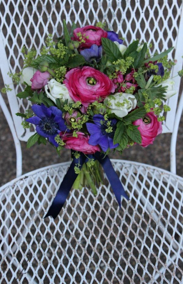 Parrott Tulips | Pink Ranunculus | Blue Anemones | Posh Floral Designs