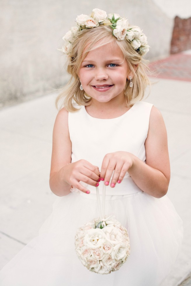 Blush Bridal Bouquet | Blush and Cream Weddings | Flower Girl Halo | Pomander Balls for Flower Girls
