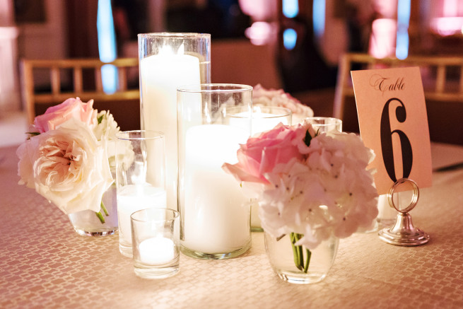 Candle Decor | Candle Centerpieces | Blush Wedding | Posh Floral
