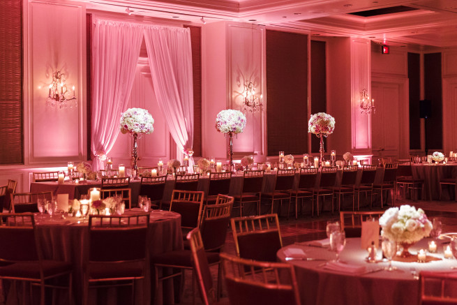 Blush Reception Decor Ideas | Draping for Weddings | Posh Floral Designs