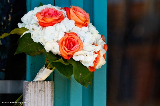 Lemon Leaf, White Hydrangeas, Orange Roses, Door Decor, Ideas for a Photoshoot, Radiant Square Photography, Summer Time Photo Shoot, Deep Ellum Dallas, Photo Shoots in Deep Ellum, Ideas for Photo Shoots, Dallas TX, Posh Floral Designs, Angie Strange, Best Florist in Dallas,