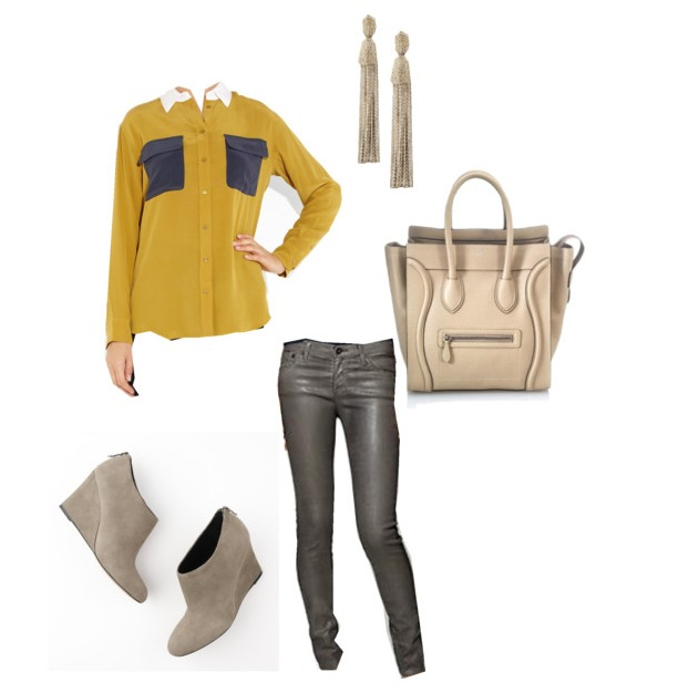 Ann Taylor Shoes, Ann Taylor Booties, Gray Suede Booties, Neiman Marcus, Oscar De La Renta, Tassel Earrings, Cline, Equipment Top, Mustard Yellow Silk Top, Silk Top, Yellow Top, Mustard Yellow Top, Leatherette Leggings, AG Pants, Piperlime, Celine Bag, Cream Bags, Celine Mini Luggage Tote, BagBorrowseal.com, Leggings, Yellow and Gray Flowers, Yellow and Gray Boutineres, Yellow Ranuclus, Cream Spray Roses, Dusty Miller Leaves, Monocramtic Yellow Flowers, Best florist in Dallas, Best wedding vendors in Dallas, Best wedding vendors in North Dallas, Mustard Yellow Wedding, Mustard yellow Outfits, Gray Outfits, What to wear going out, mustard yellow and gray weddings, Angie Strange, Posh Floral Designs, Filter Building, White Rock Lake Weddings,