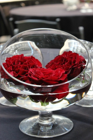 Red Rose Centerpieces, Fashion Show in Dallas, Posh Floral Designs, Charity Fashion in Dallas