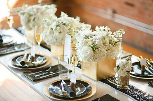 Green Hydrangeas, Vintage centerpieces, Brooches on Centerpieces