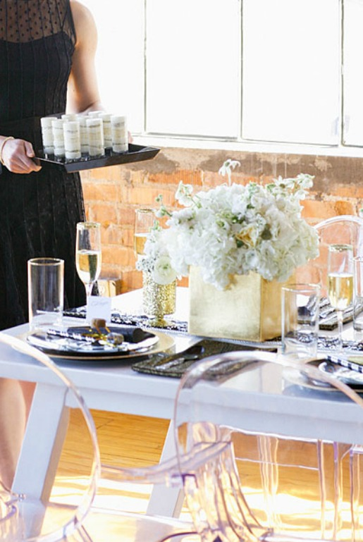 NYE Decor, New Years Party, Posh Floral Designs