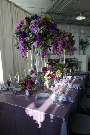 Karen Tran, Chapel Flowers, Karen Tran Events, Posh Floral Desings, Floral Designs, Purple flower centerpieces, Posh Floral Designs