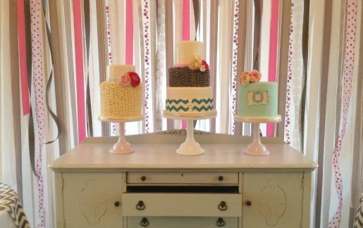 Cake Ideas, Unique Cake Ideas, Vintage Rentals, Layered bake shop, Posh Floral Designs
