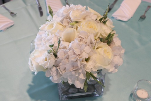 All white flowers for weddings, Aisle flowers, Stonebridge Ranch Country Club, Posh Floral Designs, All white centerpieces