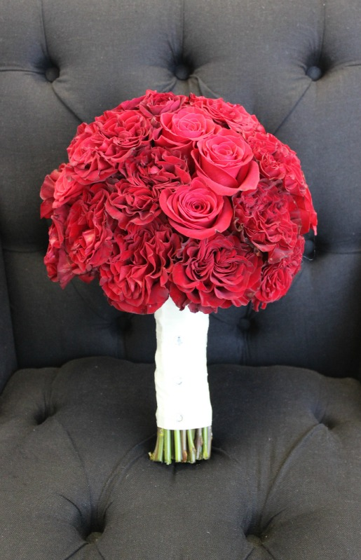 Red Rose Bouquet, Red Freedom Rose Bouquet, Black and Red weddings, Posh Floral Designs, Angie Strange