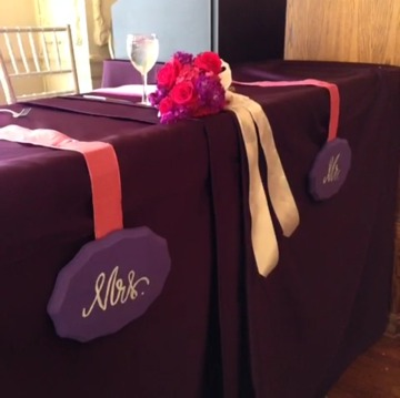 Mr and Mrs Decor, Ceremony Decor, Pink and Purple Centerpieces, Scottish Rite Museum, Sweet Pea Events, Jennifer Yarbro, LeForce Entertainment, Layered Bake Shop,
