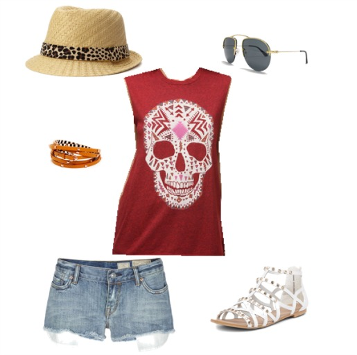 Fadoras, Forever 21, Skull Shirts, Jean Cutoffs, Studded shoes, Aviator sunglasses,Red Rose Bouquet, Red Freedom Rose Bouquet, Black and Red weddings, Posh Floral Designs, Angie Strange