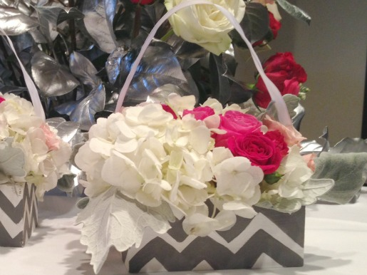 Flower Girl baskets, Wedding Ideas, Chevron Weddings