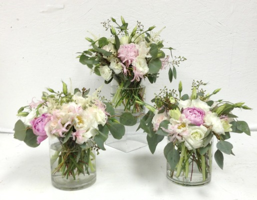 Pink Garden flowers, Pink and White Centerpieces, White Centerpieces, Garden Party Decorations, Pink Wedding Decor