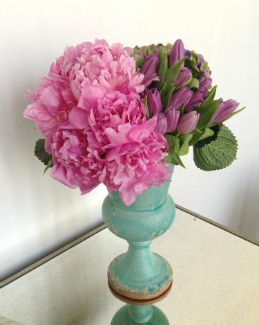 Pink Peonies, Purple Tulips, Dutch Hydrangeas