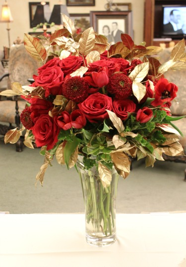 anniversary flowers, bridal bouquets, red and gold flowers