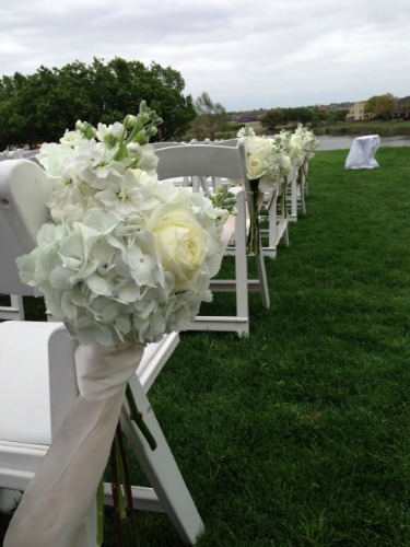 white aisle decor