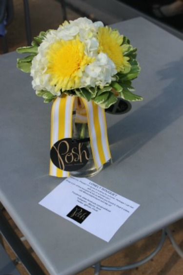 Lonely Bouquet, Community Give backs, giving to others, Yellow Gerbera Daisies, White Hydrangeas, Chapel Designers, Posh Floral Designs