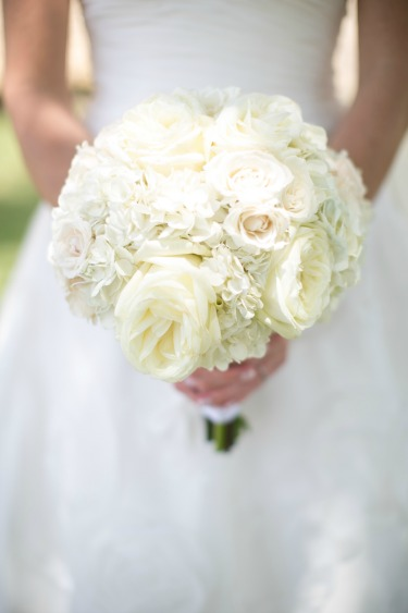 White Hydrangea Bouquet, White O'hara, White Bouquet, Posh Floral Designs,