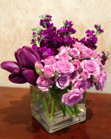 purple wedding flowers, Purple Tulips, Purple Stock, Purple Roses