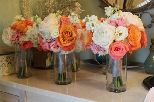 Amsterdam Roses, O'hara roses, white hydrangeas, Polo Roses, Free Spirit Roses