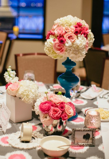 White and Pink Flowers, Creative Centerpiecs, Centerpiece Ideas