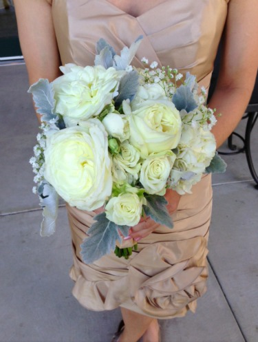 Baby's Breath Bouquet, white and gray wedding, What to wear for fall, What to wear with vests, White Garden Roses, Bauble Bar, Jcrew, Nine West, Prep Obsessed, Up by Jawbone