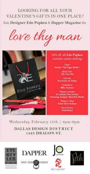 Posh Floral Designs, Edo Popken, Dapper Magazine, Valentine's Day Flowers