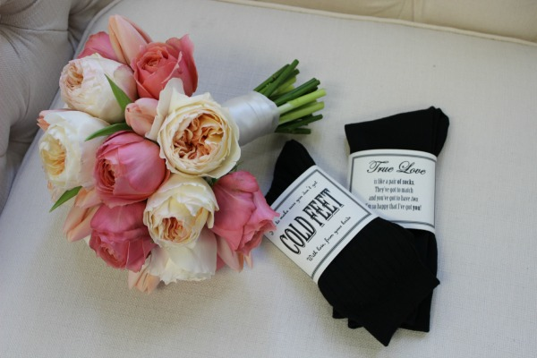 Juliet Garden Roses | Groomsmen Gifts |Peach Bouquets | Coral Roses | Groom's Gifts | Posh Floral Designs | CUTEnCRAFTY