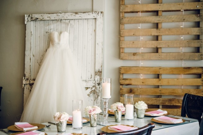 Wedding Dresses | Blush Bridal Bouquet | Blush and Cream Weddings | Flower Girl Halo |