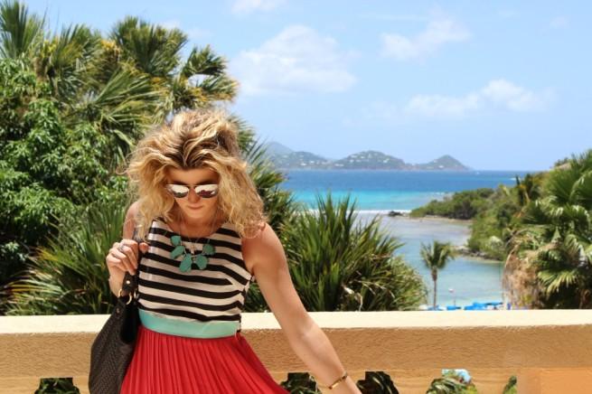 Maxi Dress | Coral Dress | Turquiose Necklace | Best Black Tote | Coral Maxi