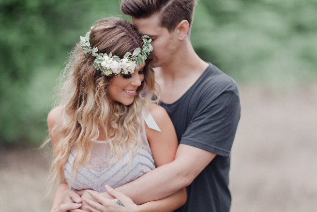 Floral Garland | Flora Headband | Boho Glam | Posh Floral | Engagement Photo Ideas